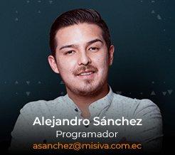 Alejandro Sánchez - Desarrollador - Programador - Android iOS - Misiva - Ecuador
